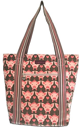 Bungalow 360 Striped Tote (Pig)