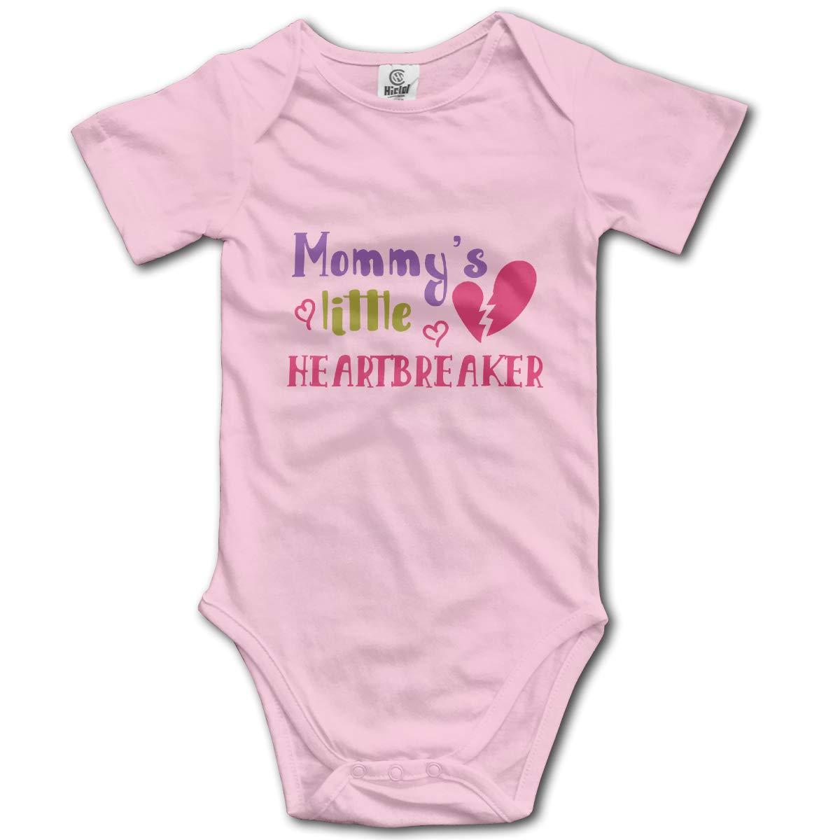 Mommys Little Heartbreaker Newbaby Baby Romper Summer Short Sleeve Jumpsuit Novelty Funny Gift