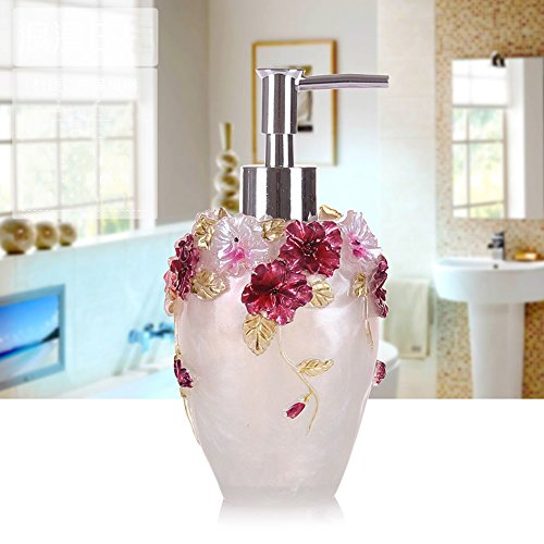 Haosen-six Resin 1 Piece Bathroom Accessory Set Butterfly -Colorful Tropical Butterfly Design Tumbler White
