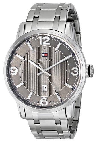 (Tommy Hilfiger Men's 1710345 Analog Display Quartz Silver Watch)