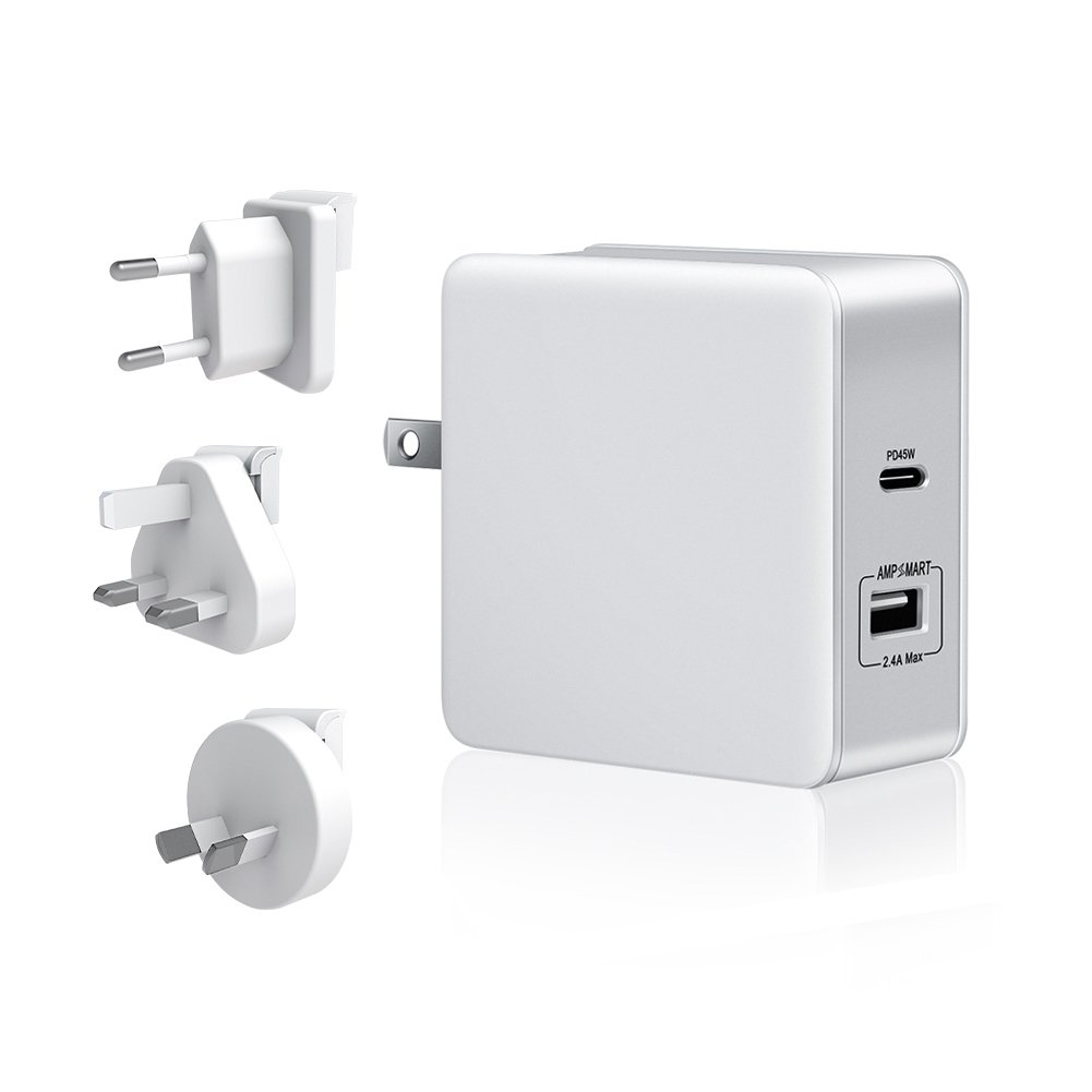 StarPlayer 57W USB C Ladegerät, 45W Typ C PD 3.0 & 12W USB A Netzteil Power Delivery USB C Charger für MacBook / Pro / Air, Dell XPS, Nintendo Switch, Samsung Note 8 / S8 / S8+, Google Pixel, iPhone X / 8 / 8 Plus, iPad usw.