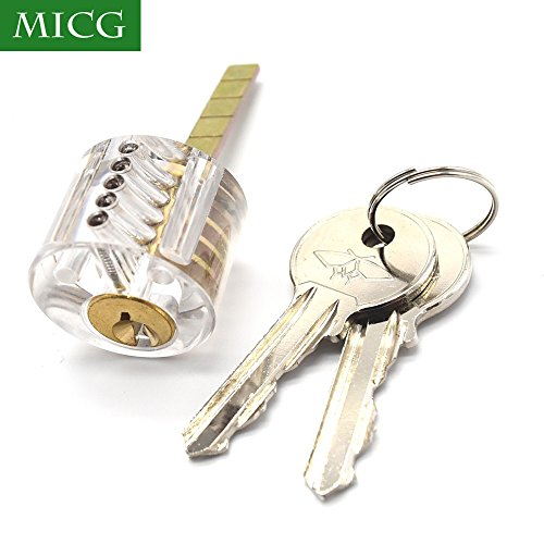MICG Professional Visible Practice Cutaway Transparent Door Lock Cylinder Pick Training Skill For Locksmith - Practice Lock Cylinder