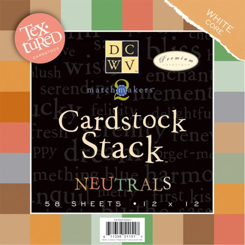 (Die Cuts DCWV Cardstock Stack, Match Makers Neutrals, 58 Sheets, 12 x 12 inches)