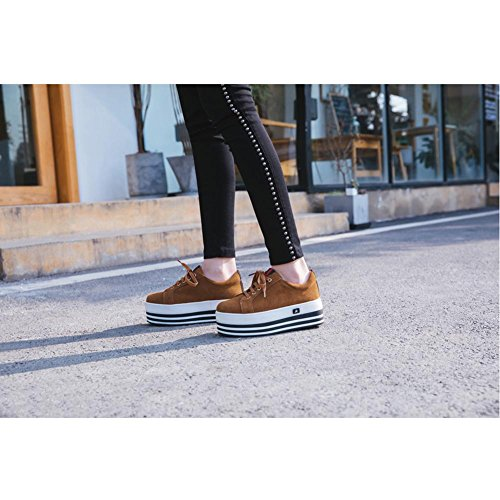 Correa A2803 Series de con Mujeres De Ocio KJJDE Zapatos WSXY Plataforma Sujeción Yellow qFvOXY