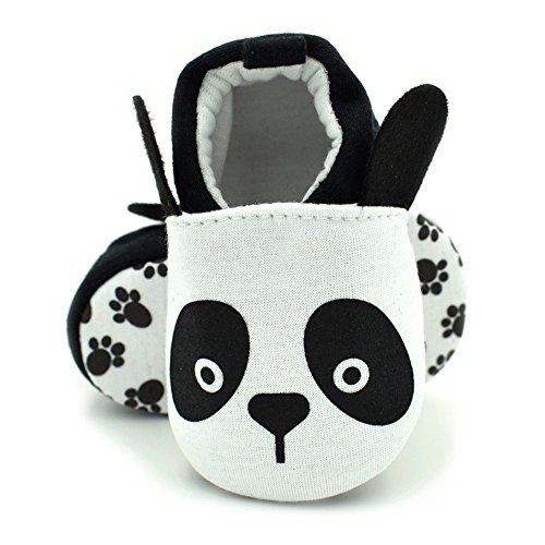 Vesi-Zapatos para bebé Primeros Pasos Zapatillas Infantiles para Niño/Niña Antideslizante Respirable Abeja Talla M:6-9 Meses Panda