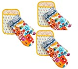 The Pioneer Woman Flea Market Pot Holder/Oven Mitt Set (3)