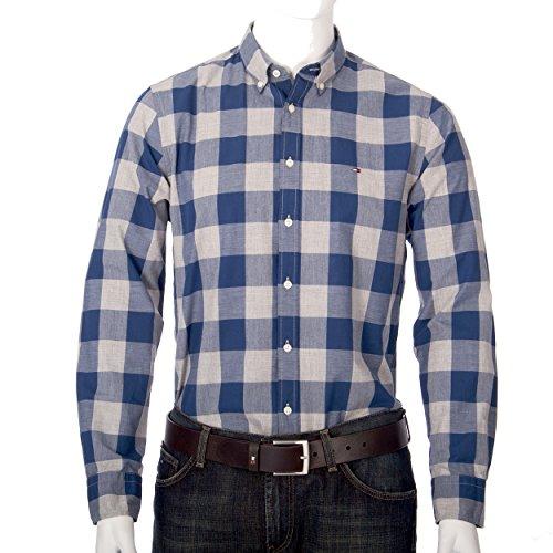 Tommy Hilfiger, Herren, Hemd Oldport CHK, blau/grau