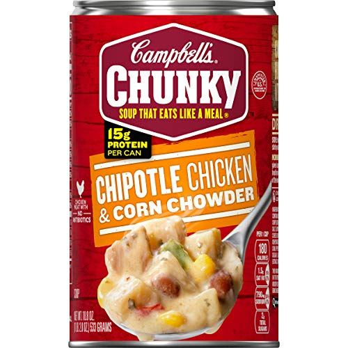 Campbell's Chunky Chipotle Chicken & Corn Chowder, 18.8 oz. Can (Pack of 12) (Potato And Corn Chowder)