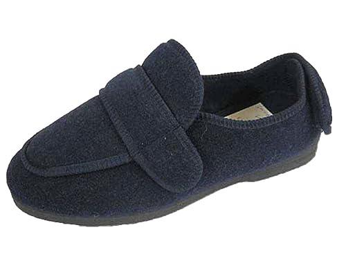 Zapatos ortopédicos para hombre con amplitud EEE, ajustables, color Azul, talla 45 EU