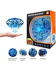 KidsFun Hand Operated Drone for Kids Toddlers Adults - Hands Free Mini Drones for Kids Flying Toys Gifts for Boys and Girls Hand Drone Kids Self Flying Drone(Blue)