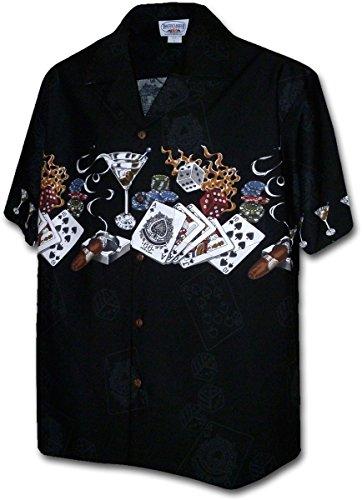 Pacific Legend Texas Hold' Em Gambling Shirts Black 3XL 440-3700