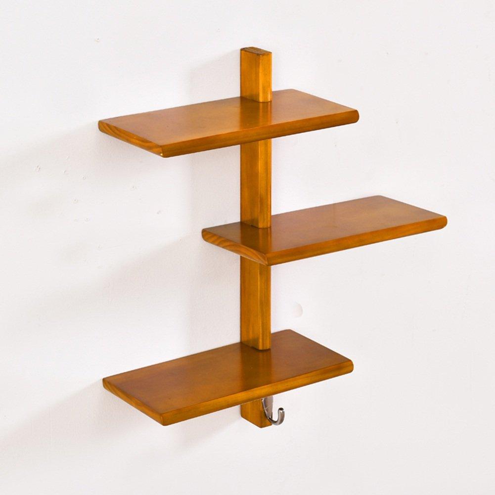 LIANGJUN スカーフ ウォールハンガー 棚付き フック 寝室 リビングルーム、 使用可能な3色、 3サイズ ( 色 : Yellow orange , サイズ さいず : 52 cm 52 cm ) B07B3Q8QHN 52 cm 52 cm Yellow orange Yellow orange 52 cm 52 cm