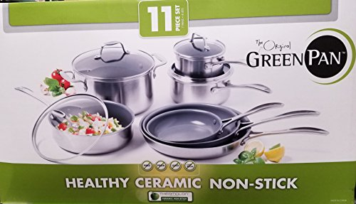The Original GreenPan 11pc Healthy Ceramic Non-Stick Cookware Set