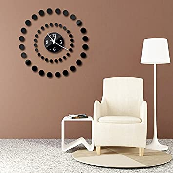 HONGYUANZHANG Reloj De Pared Relojes Horloge Decorativo Grande Reloj Digital Salón(50X50Cm) Negro: Amazon.es: Hogar