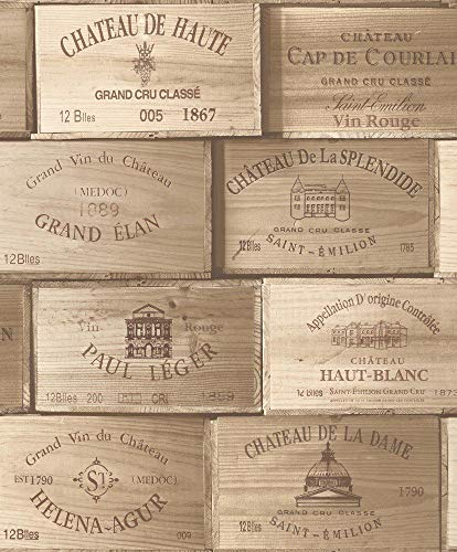 Wedding Diy Projects (Vineyard Crates One (1) Decorative French Wine Crate - Wooden Box for Wine Storage Wedding Decor DIY Projects Garden Planter Boxes NO Lid NO Storage Inserts)