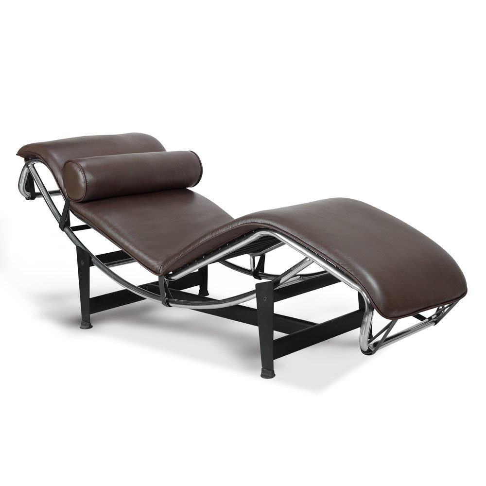 Beautiful Amazon.com: Artis Decor Le Corbusier Style LC4 Chaise Lounge Chair, Made  With Genuine Top Grain Italian Leather   Black: Kitchen U0026 Dining