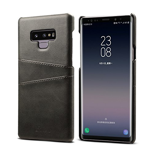 Galaxy Note 9 Case Slim Thin Leather,TACOO Credit Card Holder Slot Men Protective Cover Black Girls Women Shell Samsung Galaxy Note9 2018