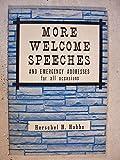 More Welcome Speeches, Herschell H. Hobbs, 031026121X