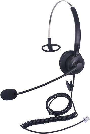 Xintronics Auriculares Teléfono Fijo Mono RJ9, Cascos con Cancelación de Ruido Micrófono para Avaya Mitel Polycom Nortel Norstar Meridian Adtran Gigaset InterTel MiVoice(X10A2): Amazon.es: Electrónica