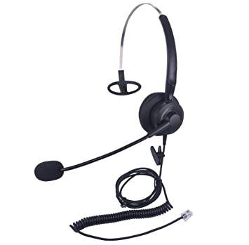 Xintronics Auriculares Teléfono Fijo Mono RJ9, Cascos con Cancelación de Ruido Micrófono para Avaya Mitel
