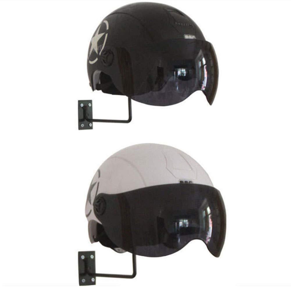 Free Size Schwarz Display Rack schwarz Per/ückenhaken Motorrad Helm Aufbewahrung Halter Multifunktions Ball verdickte Basis Schrauben Durable Hanger Hat Wall Mount
