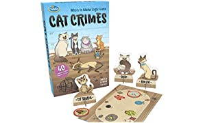 ThinkFun Cat Crimes Logic Game and Brainteaser for Boys and Girls Age 8 and Up - A Smart Game with a Fun Theme and Hilarious Artwork