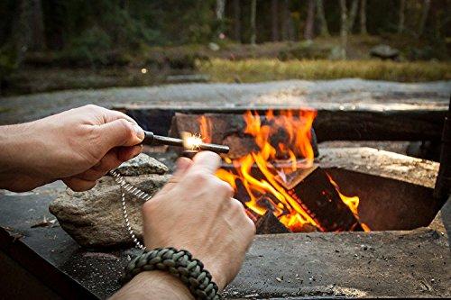 51H2PEwgEYL The Friendly Swede Feuerstarter Easy Grip - Feuerstahl in idealer Länge mit starkem Funkenflug für Camping, Outdoor…