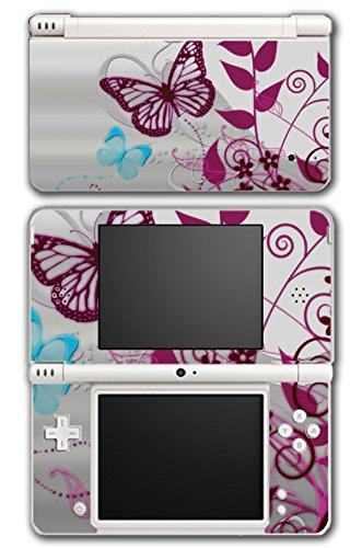 Butterfly Beautiful Flowers Art Design Video Game Vinyl - Dsi Xl Cases For Girls