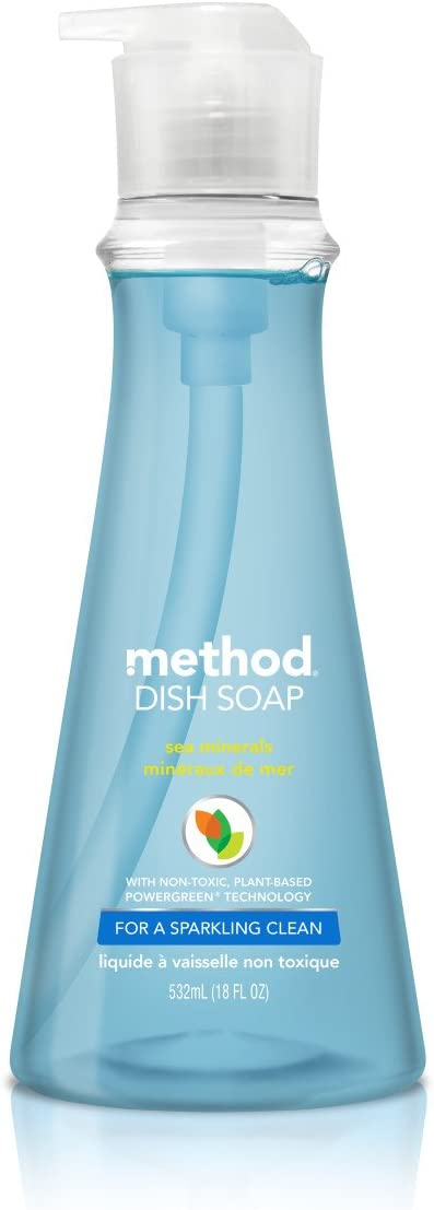 Method Dish Soap, Sea Minerals, 18 Fl. Oz (Pack of 6)