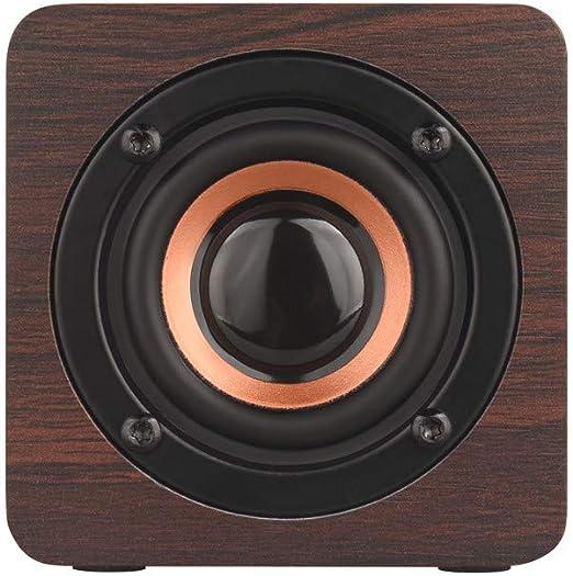 FBGood Altavoz inalámbrico de Madera con Bluetooth, Reproductor de ...