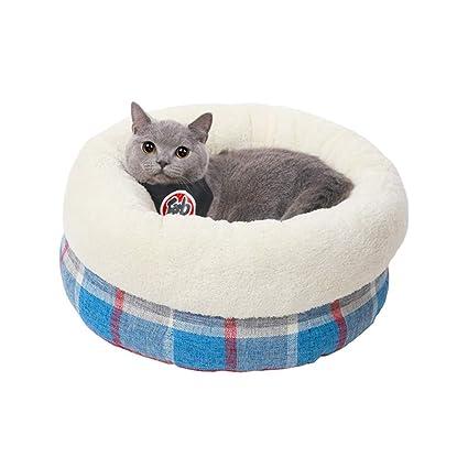 MeiHao Cálido Nido para Mascotas, Suave Cama Interior para Gatos Casa Cachorro Nido Redondo Gato