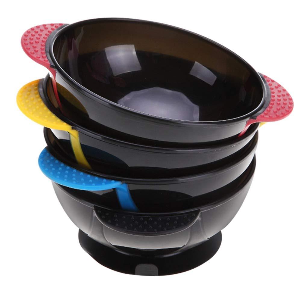 Solustre 4pcs Hair Coloring Bowls Salon Color Mixing Bowls Suction Cup Hair Dyeing Bowls Professional Salon Hair Coloring Hair Tinting Set