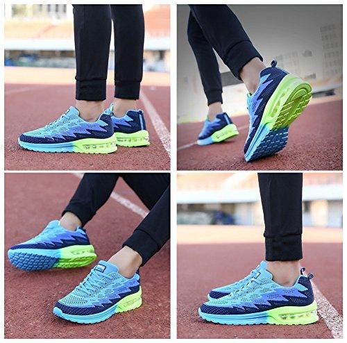 Freizeit Running Mode Laufschuhe Air und 44EU Schnürer 34 Unisex Damen Blau Laufschuhe MIMIYAYA Herren Bequeme Sportschuhe Shoes nzFOPRBq