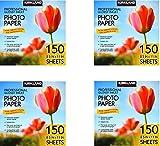 Kirkland Signature Professional Glossy Inkjet Photo Paper 8.5 x 11 Inch (150 Sheets) (4 Pack)