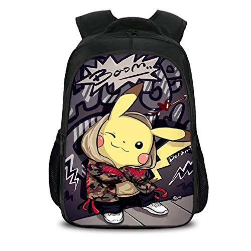 Kids Pokemon Backpack Back to School Book Bag Backpack for Scool,Travel 7 -