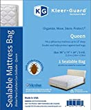 Kleer-Guard Queen Size - Extra Thick 3-Mil Sealable Mattress Bag with Microban Antimicrobial Protection - Fits Standard and Pillow-top - 73x14x96 Inch