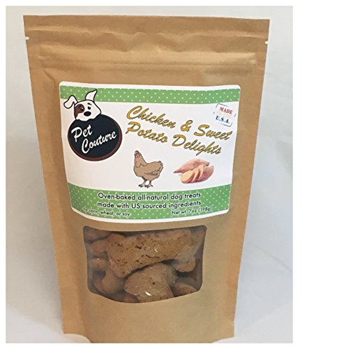 Natural Jungle Print (Healthy Delicious Sweet Potato And Chicken Dog Treats - All Natural Oven Baked Biscuits - Made With US Sourced Ingredients - Organic And Wholesome - Made In The US - 7oz Bag)