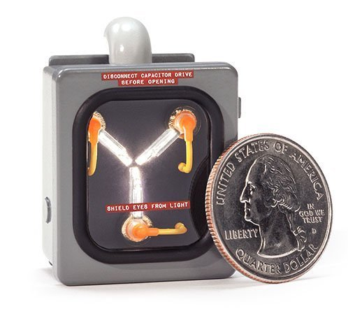 Mad Geek Collectibles Back to the Future: Mini Flux Capacitor, 1:10 Scale Miniature Die-cast Replica with Authentic Fluxing Lights