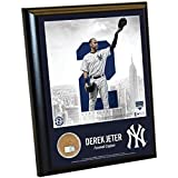 Derek Jeter New York Yankees Farewell Captain #2 Logo 8x10 Plaque with Game Used Yankee Stadium Dirt