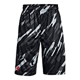 Under Armour Boys' Instinct Printed Shorts,  Black (011)/Red  Youth X-Small