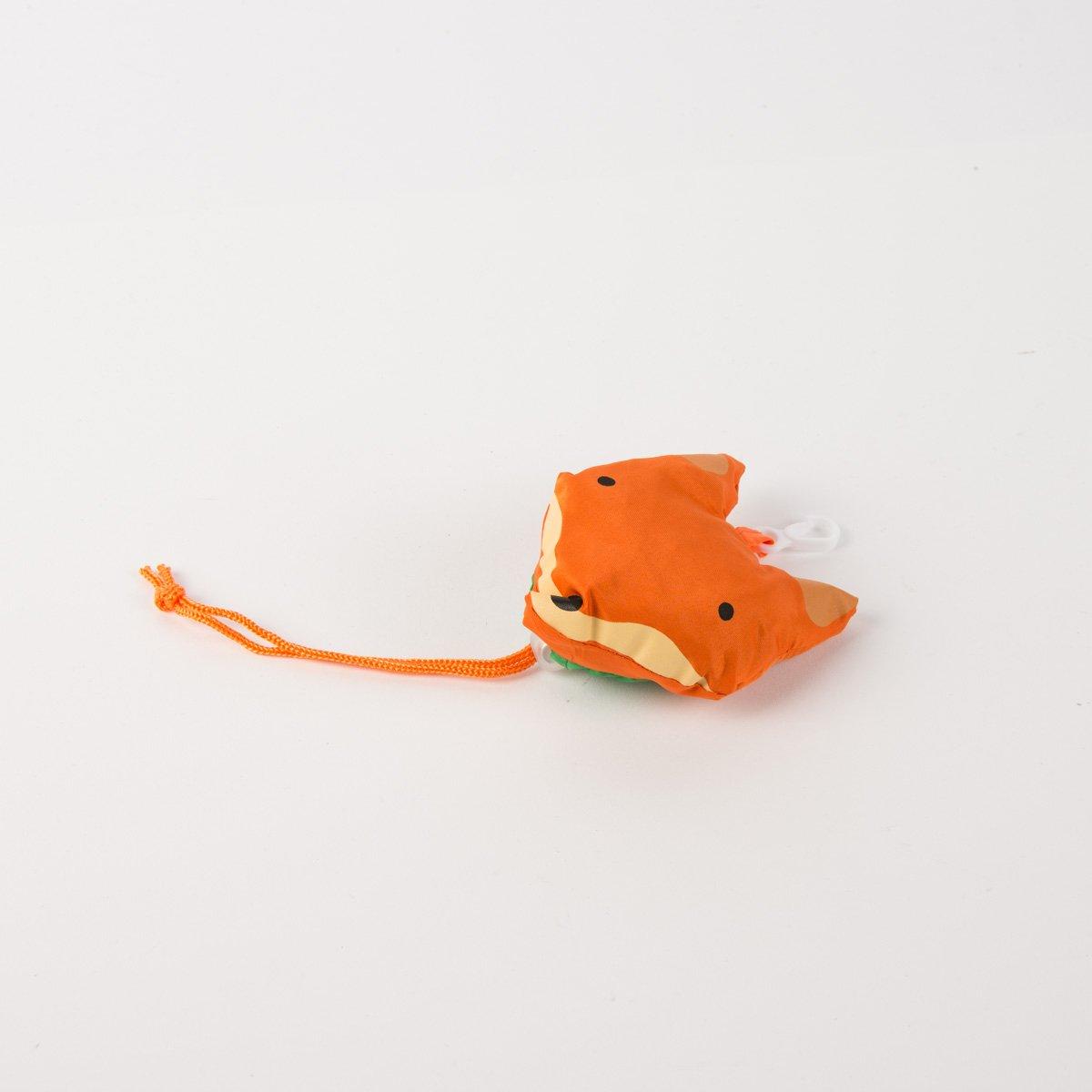 Fox fold away reusable shopping bag
