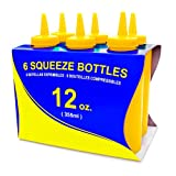 New Star Foodservice 26498 Plastic Squeeze Bottle, 12-Ounce, Yellow, Set of 6