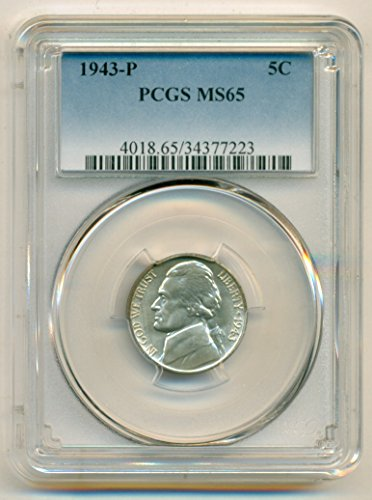 1943 P Jefferson Silver Nickel MS65 PCGS