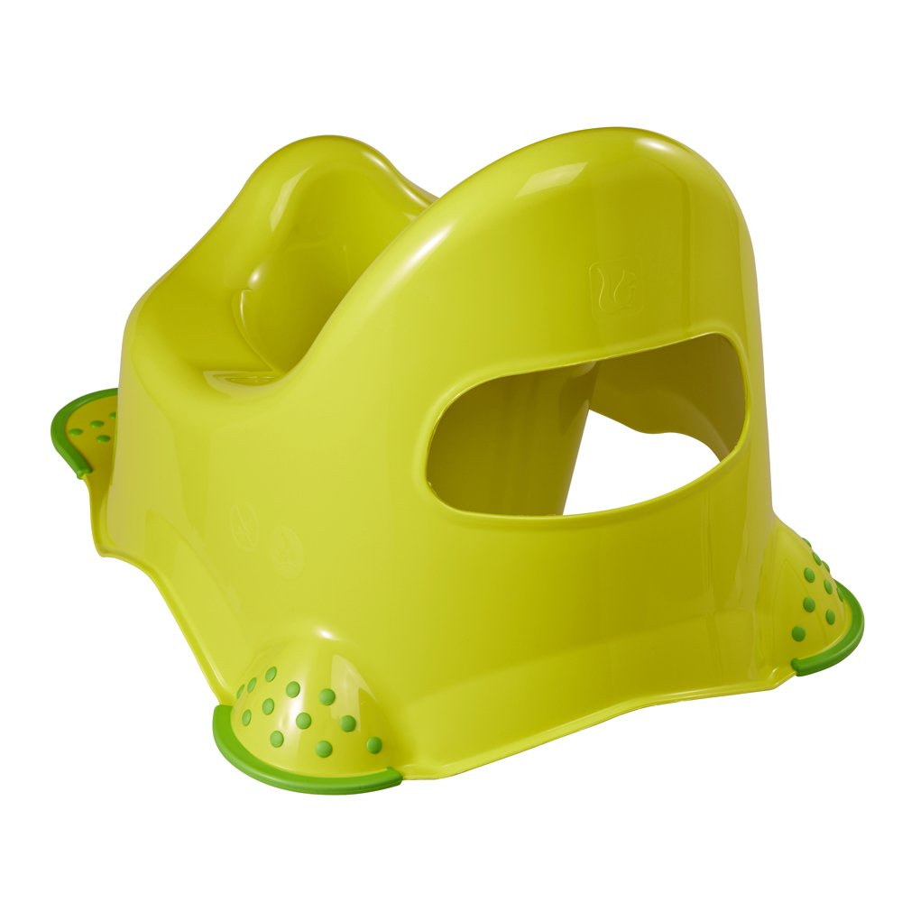 Verd OK Kids Granja Divertida Unisex Inodoro de Entrenamiento para Ba/ño con Pies de Agarre de Seguridad
