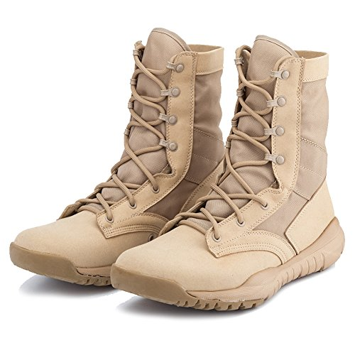 Pictures of IODSON US Mens' Ultra-Light Combat Boots Beige 9.5 M US 6
