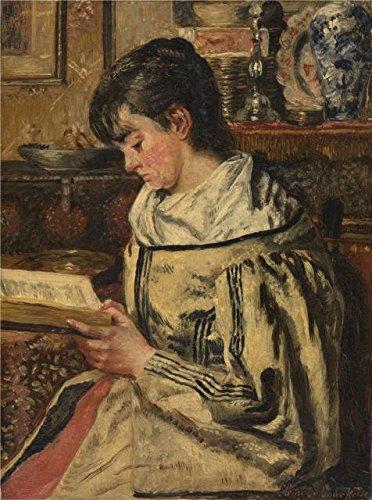Oil painting ` Henri de Braekeleer–Woman Reading `印刷on Perfect effectキャンバス、30x 40インチ/ 76x 102cm、The Bestダイニングルーム装飾とホームデコレーションとギフトは、このレプリカアート装飾キャンバスの商品画像