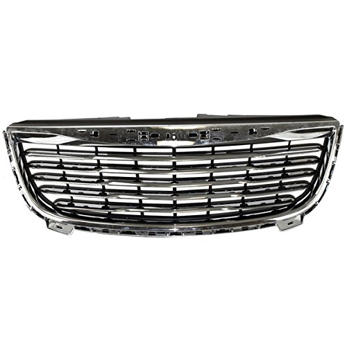 Koolzap For 11-15 Town&Country Front Grill Grille Assembly Chrome w/Black Insert CH1200350 Chrysler Town Country Grille Assembly