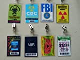 HALLOWEEN COSTUME MOVIE PROP - ID Security Badges, FBI, MIB, Area 51 and More