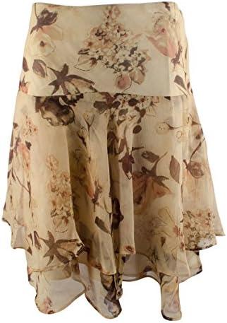 Lauren Ralph Lauren Women's Petite Floral Georgette Skirt-TM-10P