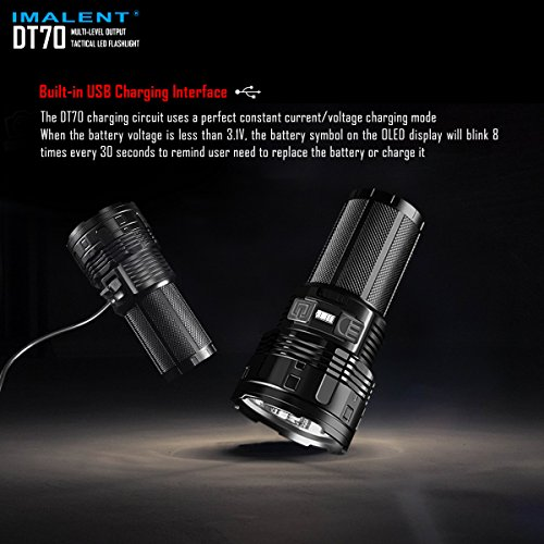 IMALENT DT70 Flashlights High Lumens Rechargeable 16000 Lumens 4 Pcs CREE XHP70 LEDs, Portable Handheld Torch by IMALENT (Image #3)